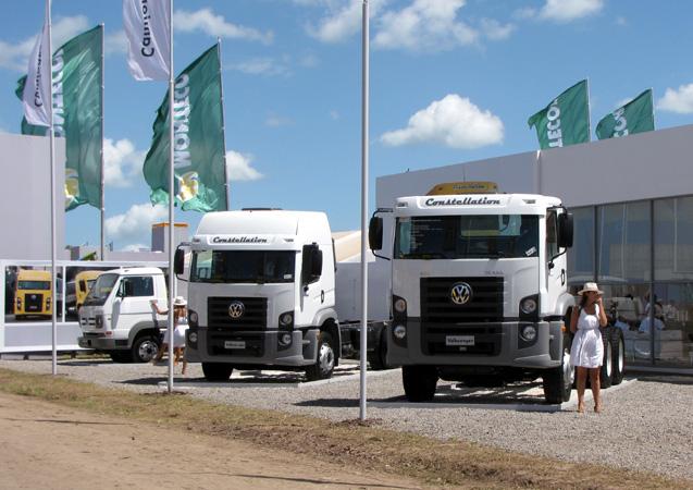 Camiones Volkswagen en Expoagro 2011