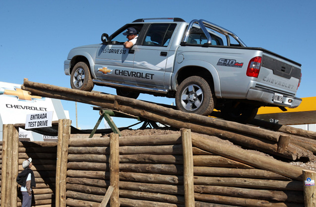 La S10 en la pista de pruebas de Chevrolet en Agroactiva