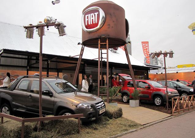 Stand de Fiat en La Rural