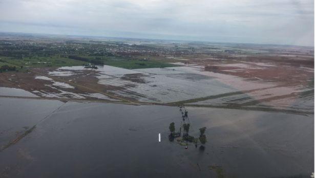 """Pierre Courreges: """"Sembrarán 30% menos de soja en General Villegas por las inundaciones""""."""