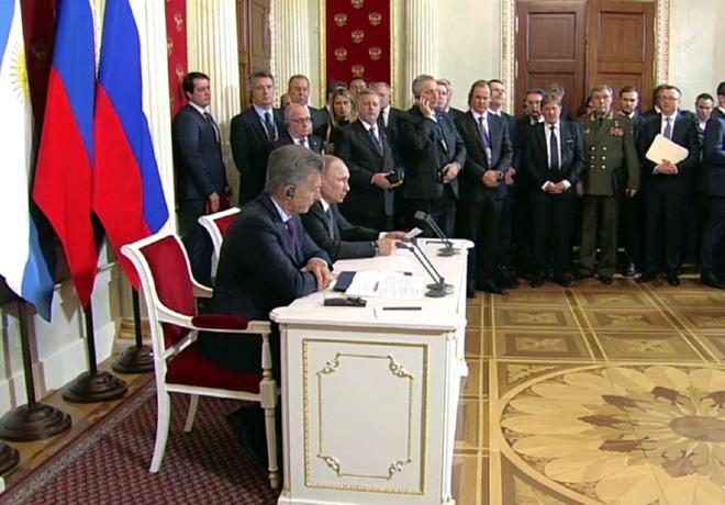 Reunion de Mauricio Macri con Vladimir Putin