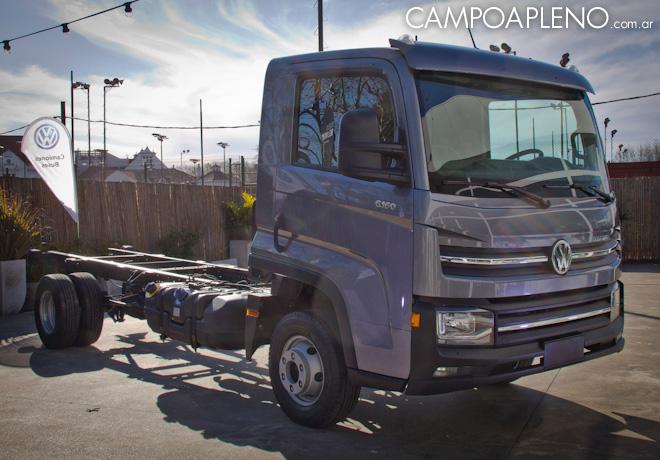Presentación del Camión VW Delivery 6.160 que ya se vende en Argentina.