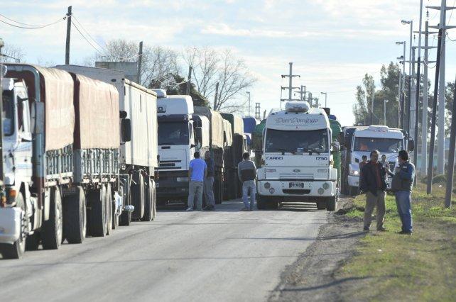 Camiones al puerto de Rosario